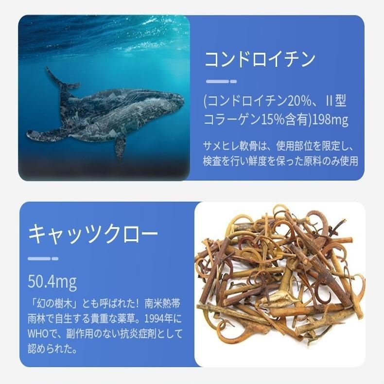 グルコサミン&コンドロイチン+キャッツクロー  お買得3本セット サメ軟骨成分配合6つのバランス栄養 AMAZONで売れています!!!!|winnowstore|09