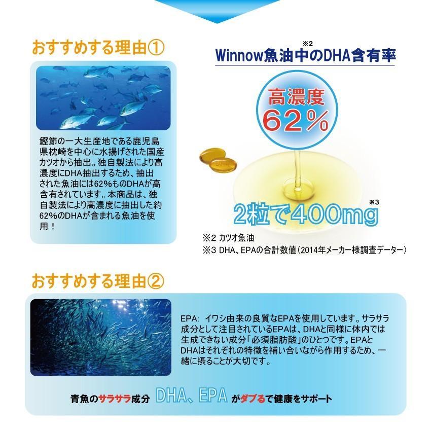 魚油 オメガ3脂肪酸/日本産高濃度DHA、EPA 120粒/本、一本約2ケ月分、お買得3本セット 2021年5月末生産(賞味期限2023年4月まで)フィッシュゼラチン winnowstore 05