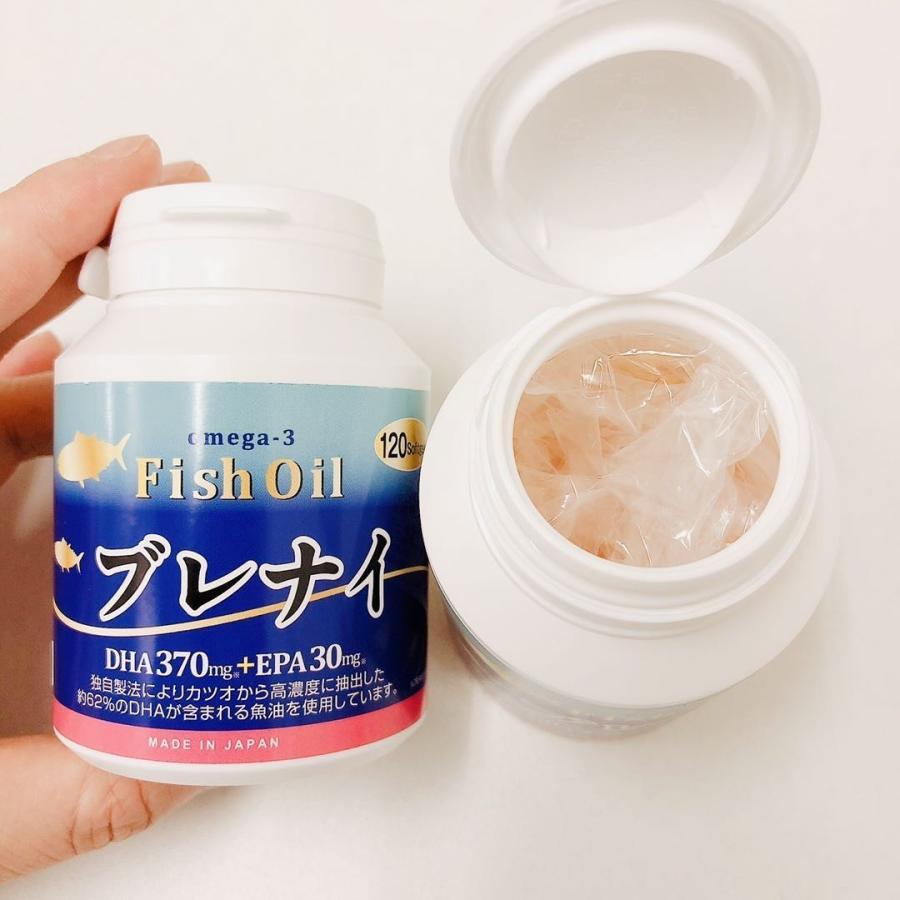 魚油 オメガ3脂肪酸/日本産高濃度DHA、EPA 120粒/本、一本約2ケ月分、お買得3本セット 2021年5月末生産(賞味期限2023年4月まで)フィッシュゼラチン winnowstore 09