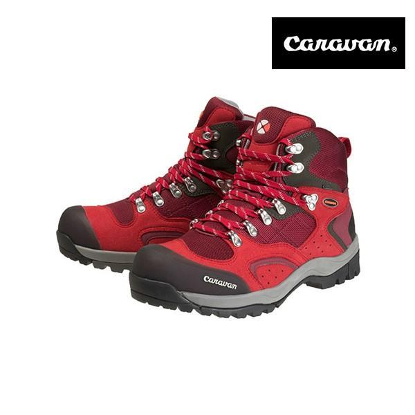 キャラバンシューズ (トレッキングシューズ) C1_02S レッド 25.0cm 0010106 (Caravan/キャラバン)