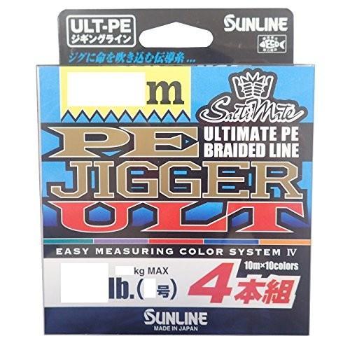 サンライン(SUNLINE) PEライン ソルティメイト ジガー ULT 4本組 600m 0.8号 12lb