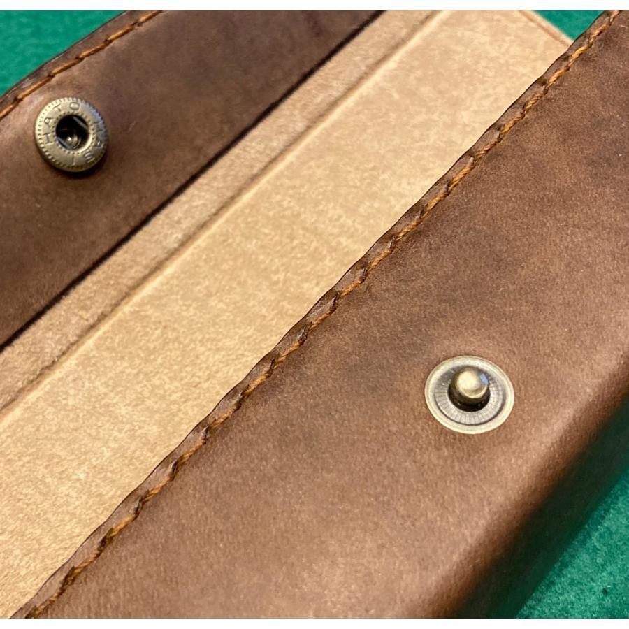 本革製メガネケース(ボックスタイプ/焦茶)|wizard-leather|10
