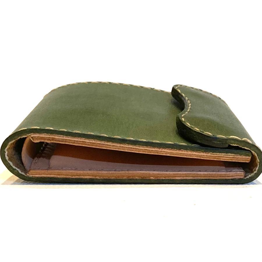 本革製ハーフ・ウォレット(カーキ)|wizard-leather|10