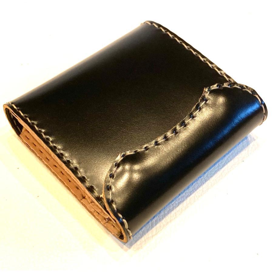 コードバン ハーフ・ウォレット(ブラック)|wizard-leather