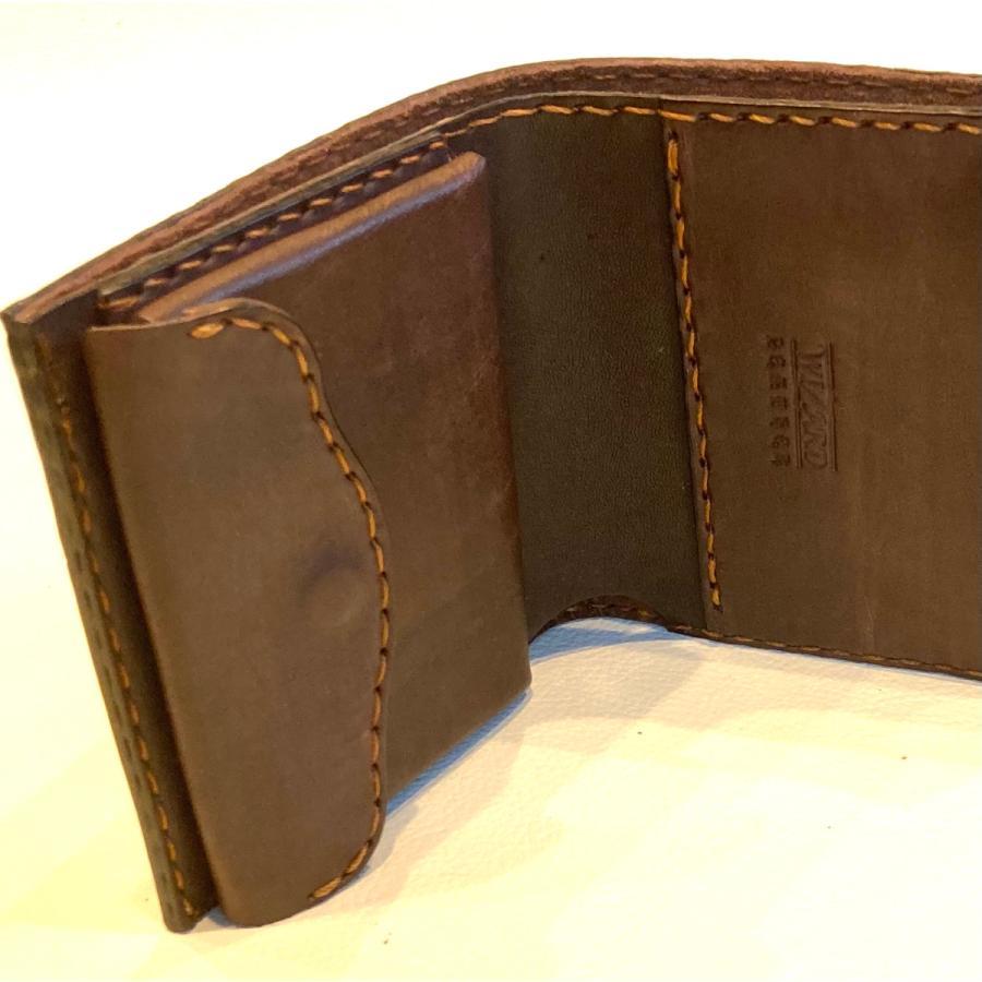 本革製ハーフ・ウォレット(ペイズリー/焦茶) wizard-leather 07