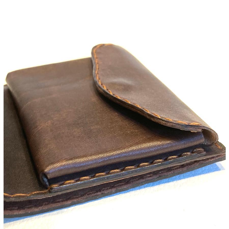 本革製ハーフ・ウォレット(ペイズリー/焦茶) wizard-leather 09