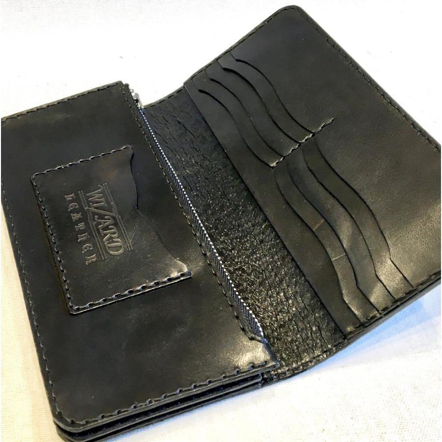 ロング・ウォレット(黒革/カービング)|wizard-leather|06