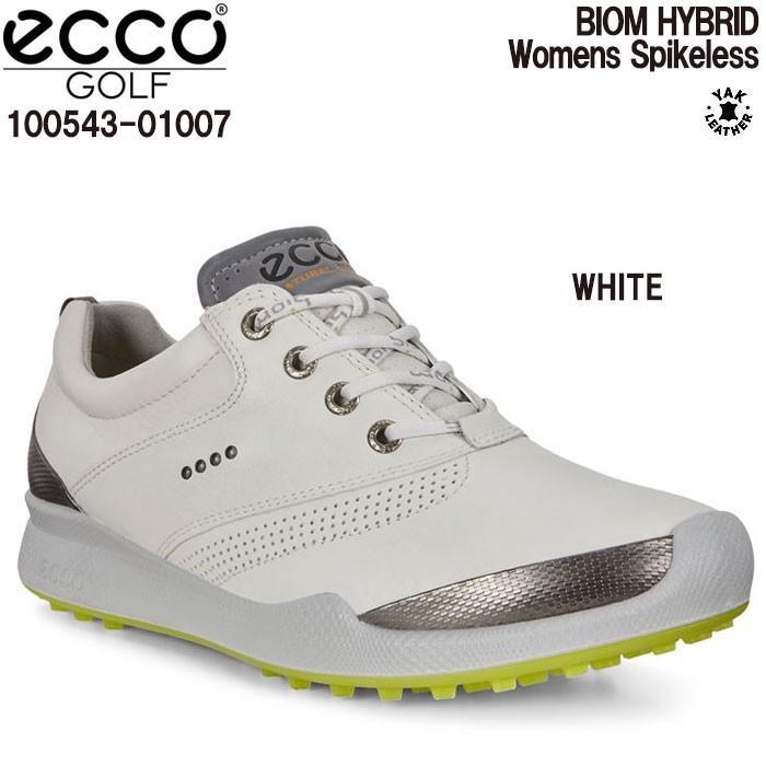 卸売 エコー ECCO 100543-01007 BIOM HYBRID WHITE レディース ゴルフシューズ スパイクレス, トコログン b03d83d7