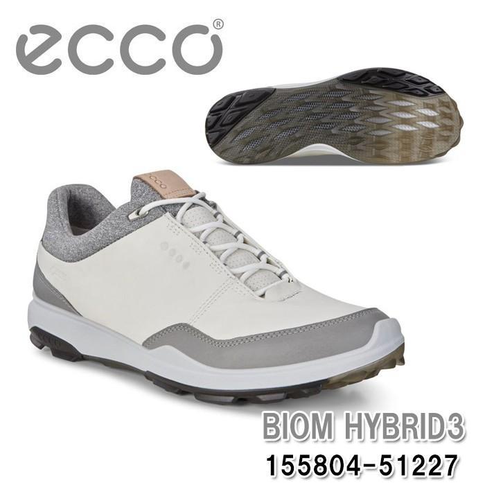 エコー ecco 155804-51227 BIOM HYBRID 3 白い/黒 METALLIC スパイクレス