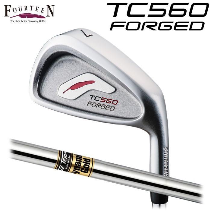 (メーカーカスタムFOURTEEN フォーティーン TC-560 FORGED アイアン Dynamic Gold 6本セット