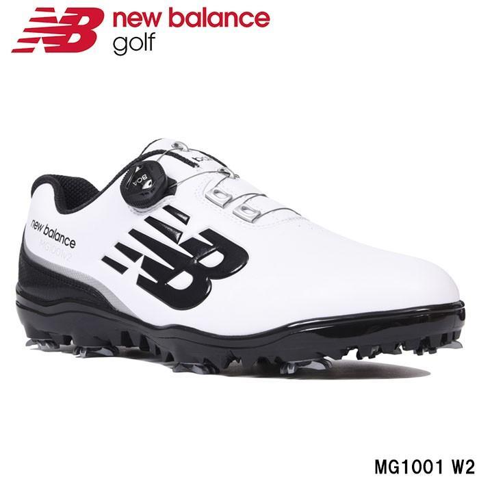 ニューバランス new balance MG1001 W2 メンズゴルフシューズ ホワイト/ブラック