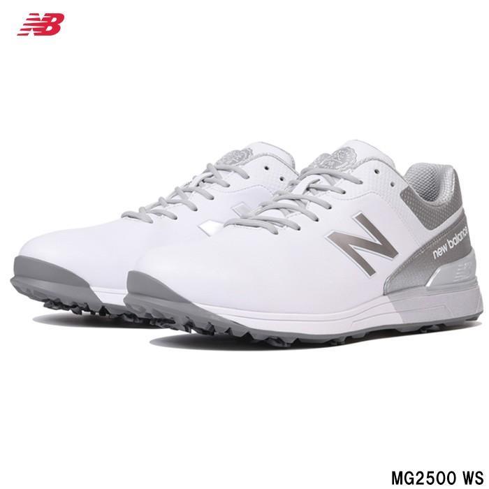 ニューバランス New Balance MG2500WS ゴルフシューズ ホワイト/シルバー