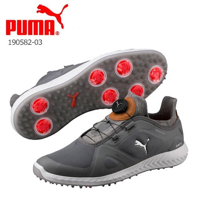 プーマ PUMA 190582-03 IGNITE PWRADAPT DISC Boa メンズ ゴルフ シューズ グレー