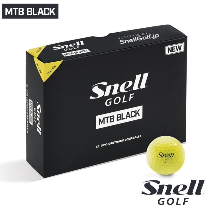 ゴルフボール スネルゴルフ SNELL GOLF 2019 NEW MTB 黒 イエロー 5ダース 60球