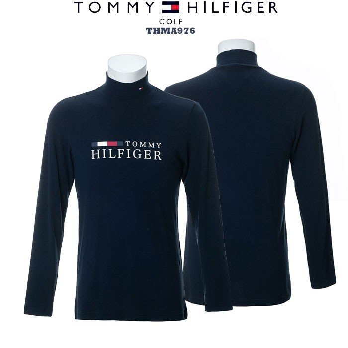 トミーヒルフィガー 2019 TOMMY HILFIGER THMA976 TH LOGO HIGH NECK SHIRTS