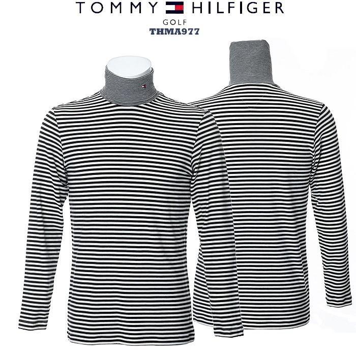 トミーヒルフィガー 2019 TOMMY HILFIGER THMA977 BORDER TURTLE NECK SHIRTS タートルネック シャツ