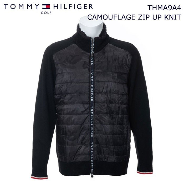 トミーヒルフィガー 2019 TOMMY HILFIGER THMA9A4 CAMOUFLAGE ZIP UP KNIT ブルゾン