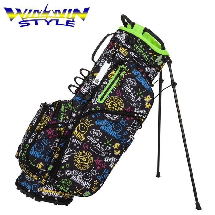 ウィンウィン スタイル WINWIN STYLE CB-931 LUCKY CHARACTER LIGHT WEIGHT STAND BAG 9インチ