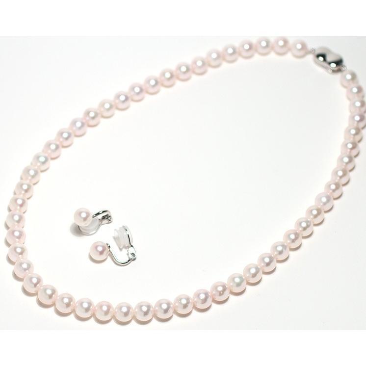 パールネックレス 冠婚葬祭  アコヤ真珠7.5-8mmネックレスと痛くない微調整可7.5mmイヤリングの2点セット 成人式 入学式 入園式 結婚式|wizem|02
