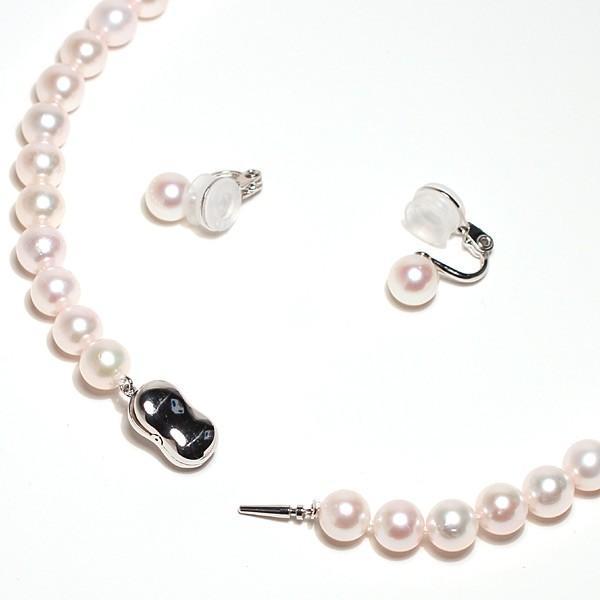 パールネックレス 冠婚葬祭  アコヤ真珠7.5-8mmネックレスと痛くない微調整可7.5mmイヤリングの2点セット 成人式 入学式 入園式 結婚式|wizem|06