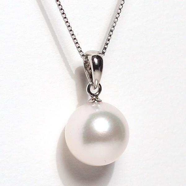 定番プラチナ枠パールペンダントあこや真珠9mmUP長さが変えられるプラチナネックレス45cm付誕生石6月日本製ギフトラッピング|wizem