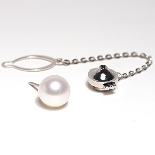 アコヤ真珠9mm~9.3mmタイタック プラチナ製pt900タック針 冠婚葬祭 誕生石6月  成人式 結婚式 大人 上品|wizem|03