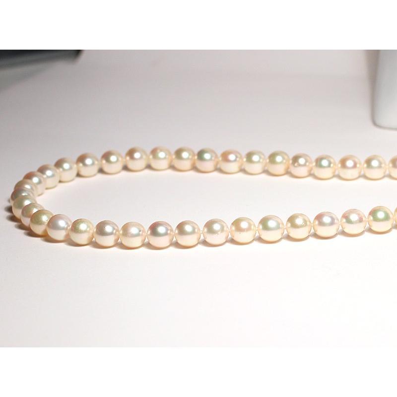 ナチュラル色アコヤ真珠ロングネックレス7.5-8mmイエローゴールド色最長約88cm染めでないナチュラル色アレンジ可能なシルバーエクラ wizem 03