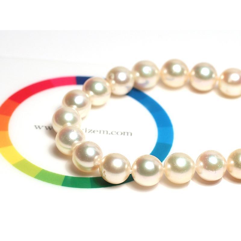 ナチュラル色アコヤ真珠ロングネックレス7.5-8mmイエローゴールド色最長約88cm染めでないナチュラル色アレンジ可能なシルバーエクラ wizem 04