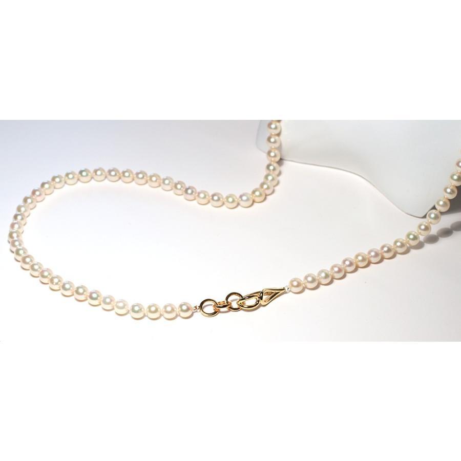 ナチュラル色アコヤ真珠ロングネックレス7.5-8mmイエローゴールド色最長約88cm染めでないナチュラル色アレンジ可能なシルバーエクラ wizem 06