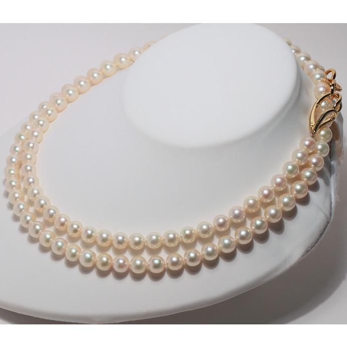 ナチュラル色アコヤ真珠ロングネックレス7.5-8mmイエローゴールド色最長約88cm染めでないナチュラル色アレンジ可能なシルバーエクラ wizem 07