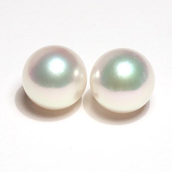 パール8.5mmペア2珠アコヤ真珠 珠のみ 片穴あきピアスイヤリング用 wizem