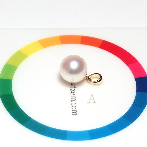 定番シンプルK18パールペンダントトップ アコヤ真珠直径8.8mmイエローゴールド|wizem|08
