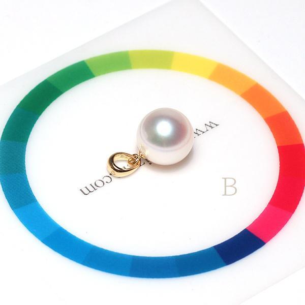 定番シンプルK18パールペンダントトップ アコヤ真珠直径8.8mmイエローゴールド|wizem|09