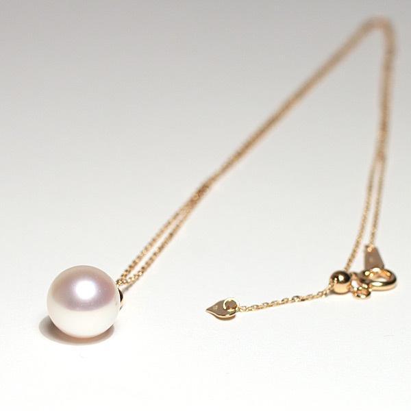 定番シンプルK18パールペンダントトップ アコヤ真珠直径8.8mmイエローゴールド|wizem|07