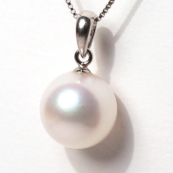定番シンプルパールペンダントトップ アコヤ真珠直径9.1mm〜9.2mmプラチナPT900|wizem|02