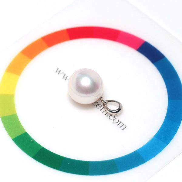 定番シンプルパールペンダントトップ アコヤ真珠直径9.1mm〜9.2mmプラチナPT900 wizem 03
