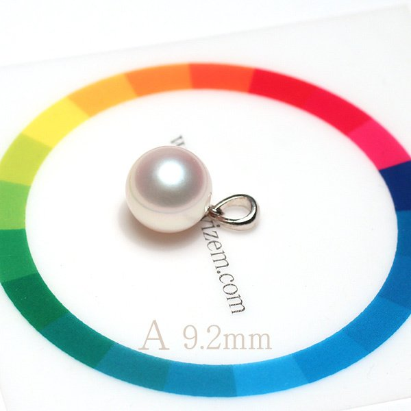 定番シンプルパールペンダントトップ アコヤ真珠直径9.1mm〜9.2mmプラチナPT900|wizem|10