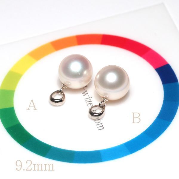 定番シンプルパールペンダントトップ アコヤ真珠直径9.1mm〜9.2mmプラチナPT900|wizem|07