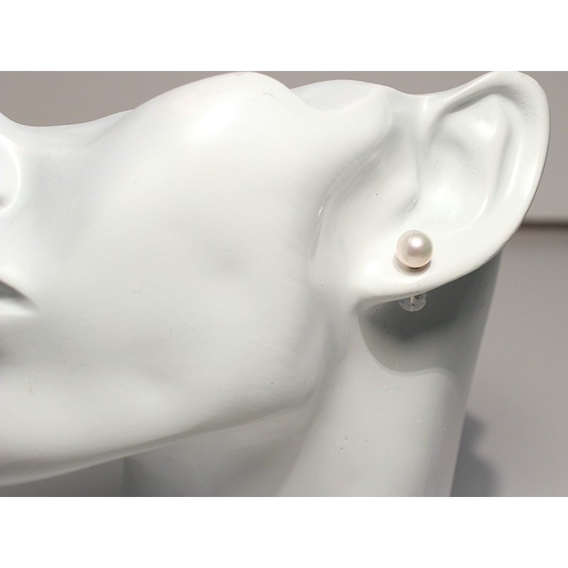 パールピアスアコヤ真珠7.5mmスタッドピアス 冠婚葬祭 入学式 成人式 K14WGホワイトゴールド製|wizem|08