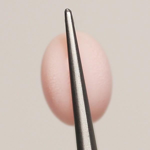 コンクパールルース5.982ct 約10.4mmx9.7mmx7.6mm 鑑別書付属中央宝研うすピンク色 全体に火炎模様みられ素晴らしい希少な天然真珠|wizem|03