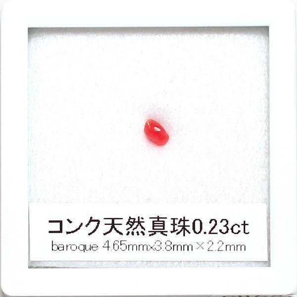 コンクパールルース0.23ctバロック形4.65mm×3.8m×2.2mmコレクション用|wizem|07