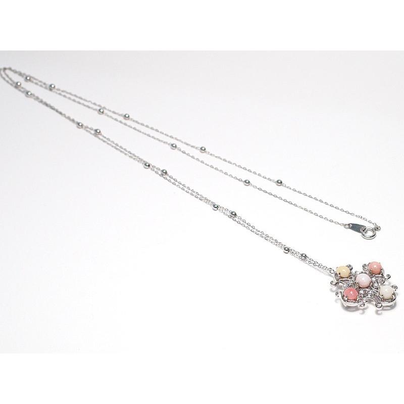 コンクパールネックレス オリジナルクロスデザインプラチナ製5ピースで2.7ct 希少な天然真珠|wizem|04