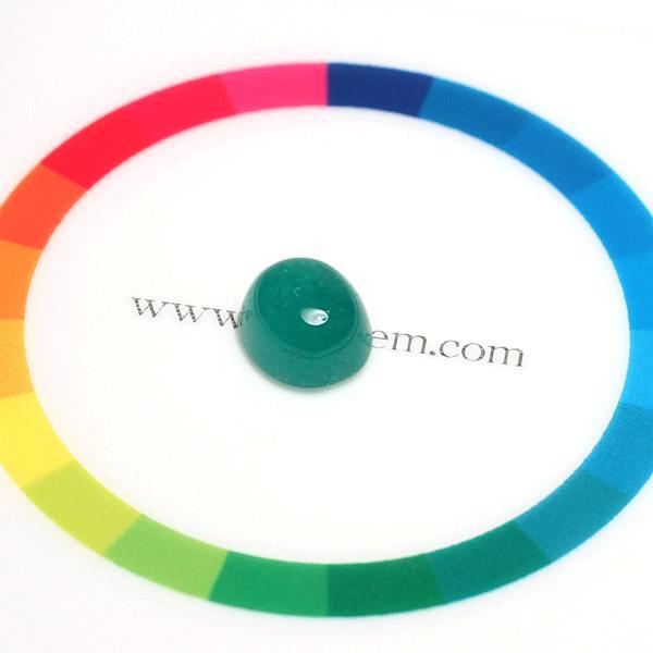 エメラルドルース3.162ct カボションカット 9.3mm×8.2mm 中央宝石研究所のソーティング付属/簡易鑑別|wizem|03