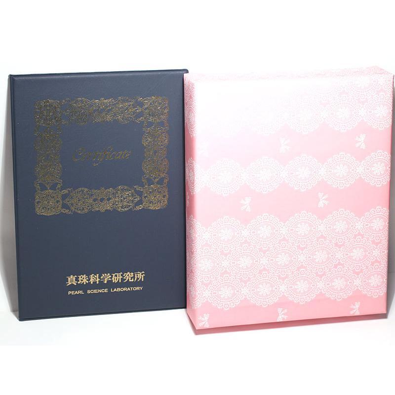 パールネックレス 冠婚葬祭 オーロラ花珠真珠7.5-8mmネックレスと8.1mmペア2点セット真珠科学研究所の鑑別書付属パールキーパー高機能ケース入り 入学式|wizem|09