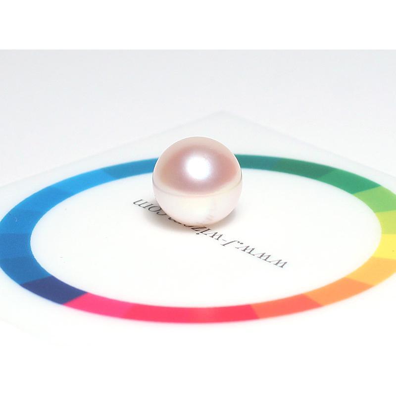 指輪用真珠ルース 花珠真珠10.2mmリング用珠のみ片穴あきオーロラ花珠真珠鑑別書付属|wizem|05