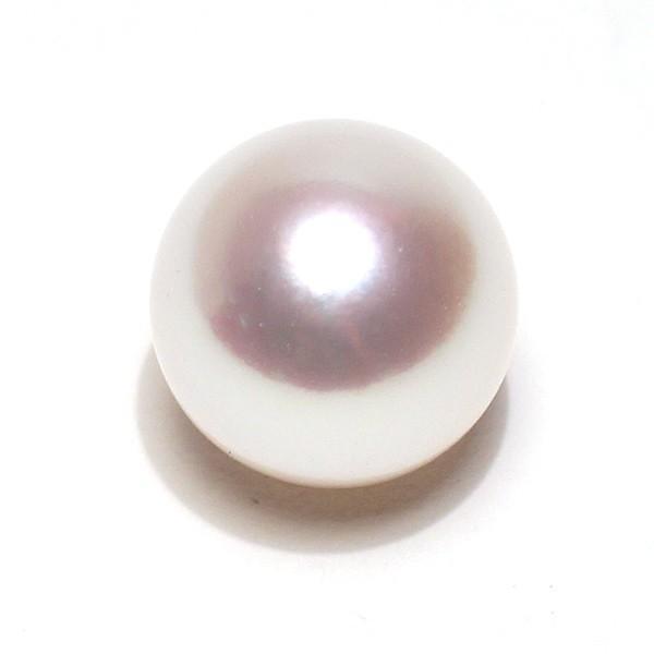 真珠 ルース 花珠真珠9.6mmリング用珠のみ 片穴あき オーロラ花珠鑑別書付属 無調色ナチュラル色 wizem