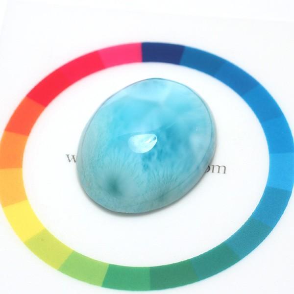 ラリマー37.61ctカリブ海の癒しの宝石26mm×21mm wizem 05