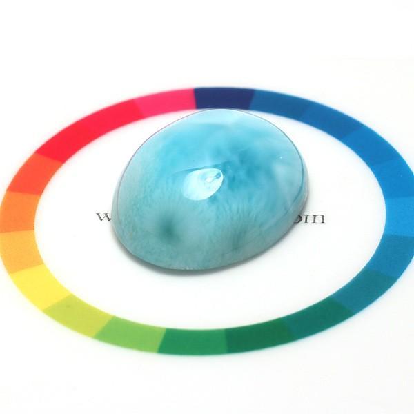ラリマー37.61ctカリブ海の癒しの宝石26mm×21mm wizem 06