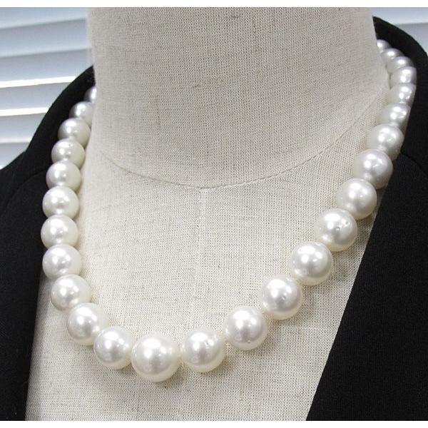 パールネックレス白蝶真珠14-10mm全長44.5cm高機能ケースパールキーパー入り|wizem