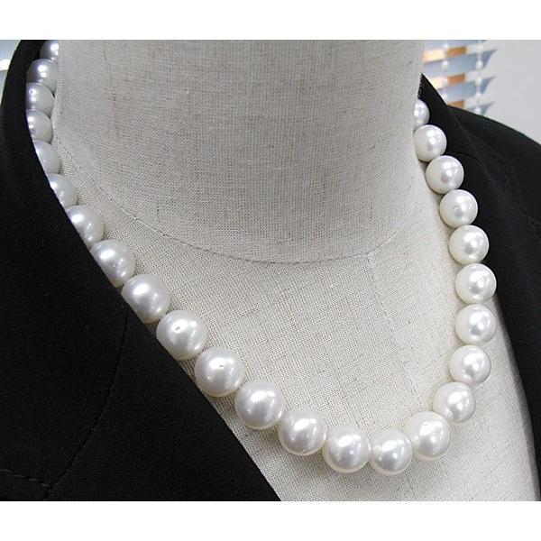 パールネックレス白蝶真珠14-10mm全長44.5cm高機能ケースパールキーパー入り|wizem|05